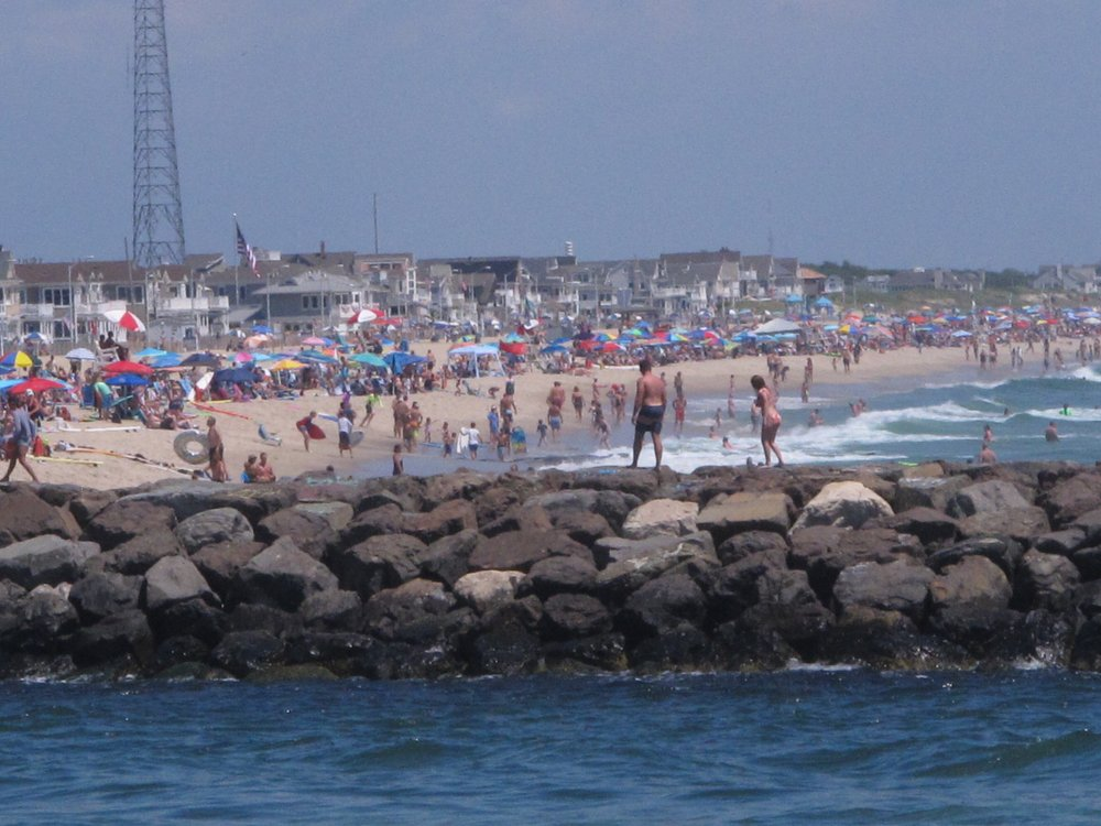 Crowds at Jersey Shore